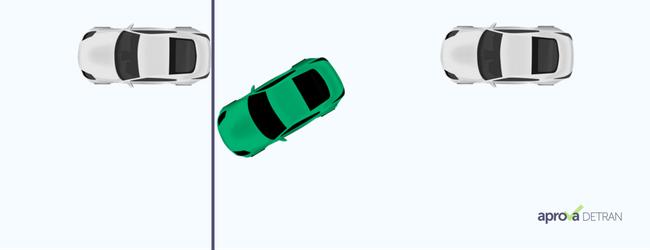 baliza do exame de direção passo 1