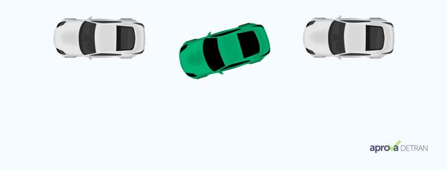 baliza do exame de direção passo 4