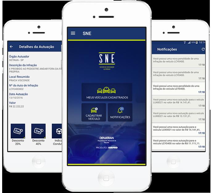Multas de trânsito App SNE DENATRAN