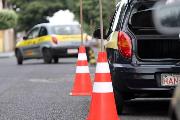 baliza do exame de direção