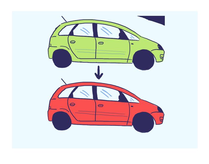 For alterada qualquer característica do veículo