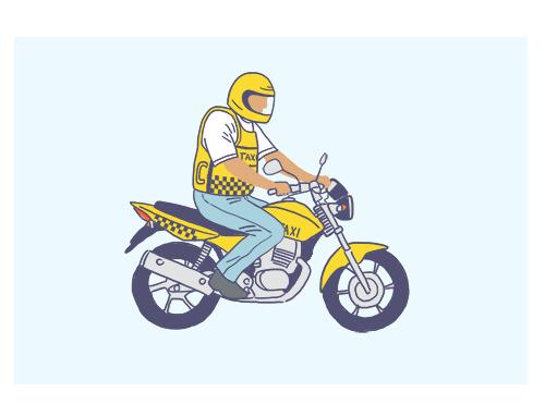 Motofretista-mototaxista