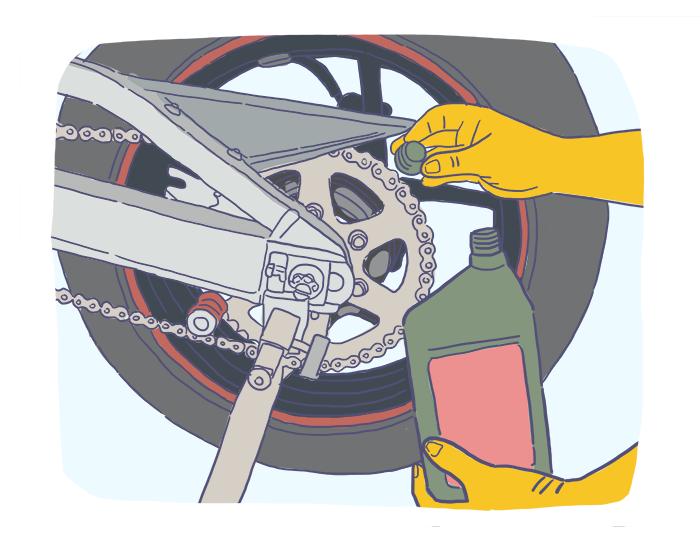 Quais são os principais componentes de uma motocicleta?