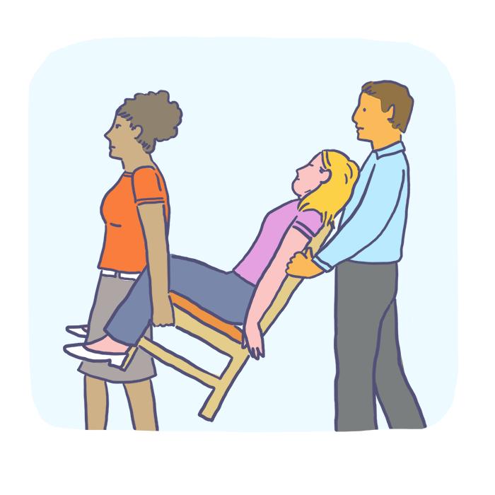 Como imobilizar uma vítima para transportá-la?